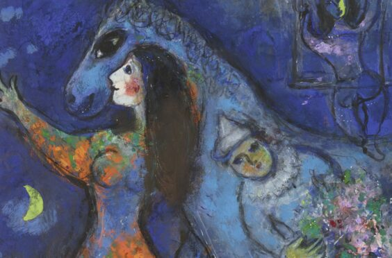 L'Écuyère (The Horse Rider), was created by Marc Chagall between 1949-53 and will be on display at the Scottish National Gallery of Modern Art in Edinburgh next month
