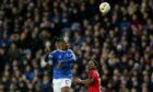 Rangers' Joe Aribo vies for the ball with Bayer Leverkusen's Wendell during the Europa League match at Ibrox