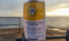 Warning signs along the seafront in Southend on Sea, advising people not to enter the water. Residents and visitors to the town on the river Thames estuary have been warned not to enter the water at three beaches following a sewage leak.