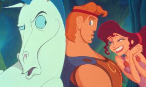 Pegasus, Hercules and Megara in Disney's 1997 movie Hercules (Pic: Moviestore/Shutterstock)