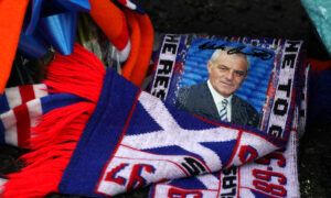 Tributes are laid at Ibrox Stadium in memory of former Scotland, Rangers and Everton manager Walter Smith