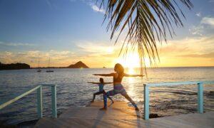Yoga in the St Lucian sun
