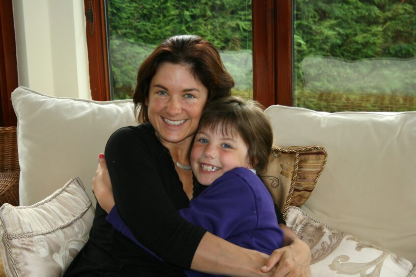 Ruth Moss with daughter Sophie