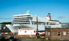 MS Romantika berthed next to Braehead Shopping Centre, Renfrew