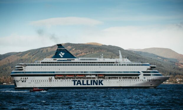 Silja Europa sailing up the Firth of Clyde