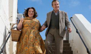 Joanna Scanlan and Bradley Walsh in The Larkins