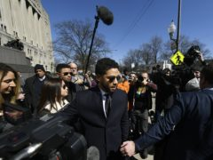 Jussie Smollett leaves Cook County Court after his charges were dropped (Paul Beaty/AP)