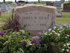 The grave of actor James Dean (John Harrell/AP)