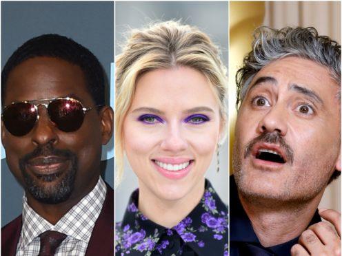 Sterling K. Brown, Scarlett Johansson and Taika Waititi (Jordan Strauss/AP/Ian West/David Parry/PA)