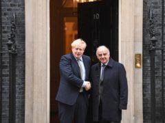 Prime Minister Boris Johnson welcomes the President of Malta, George Vella (Stefan Rousseau/PA)