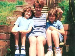 Mandy Power with her children Katie and Emily (Family handout/PA)