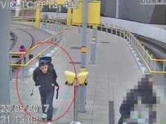 CCTV image of Salman Abedi at Victoria Station making his way to the Manchester Arena (CCTV/GMP/PA)