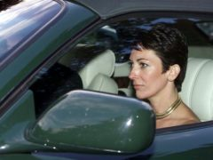 Ghislaine Maxwell, seen here in a car with the Duke of York in 2000, has forcefully denied Virginia Giuffre's claims (Chris Ison/PA)