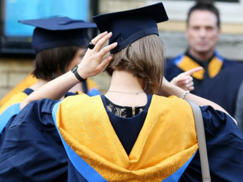 Many young people believe the university admissions process should only begin once final grades are awarded, research found (PA)