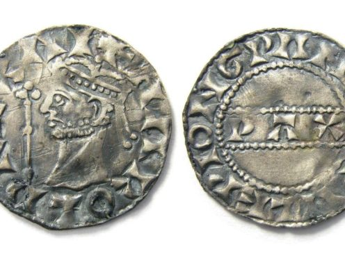 The Harold II silver penny found by Reece Pickering in Norfolk sold for £4,000 at auction (Hansons/PA)