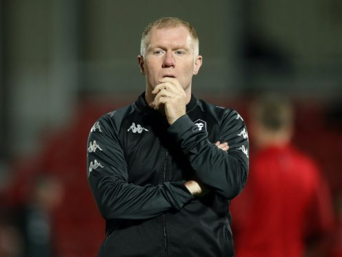Paul Scholes praised Salford's defence (Martin Rickett/PA)