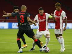 Fabinho, left, excelled for Liverpool against Ajax (Peter Dejong/AP)