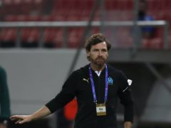 Marseille head coach Andre Villas-Boas gives instructions to his players (Thanassis Stavrakis/AP)