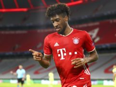 Kingsley Coman scored twice in Bayern Munich's 4-0 win over Atletico Madrid (Matthias Schrader/AP/PA)
