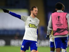 James Maddison scored for Leicester (Mike Egerton/PA)