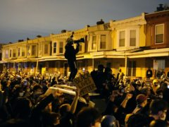 Hundreds of demonstrators marched in West Philadelphia over the death of Walter Wallace (Matt Slocum/AP)
