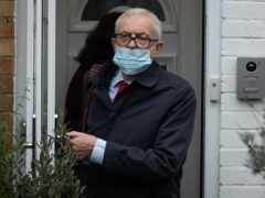 Former Labour leader Jeremy Corbyn leaves his house (Aaron Chown/PA)