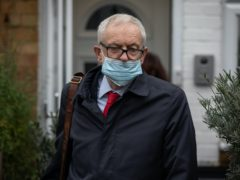 Former Labour leader Jeremy Corbyn leaves his house in North London ahead of the release of an anti-Semitism report by the Equality and Human Rights Commission (EHRC).