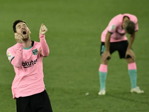 Barcelona have only picked up two points from their last four league games (Alvaro Barrientos/AP)
