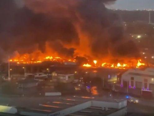 Scene of the fire in Bradford (@WYP_PCWILLIS, @aj412)