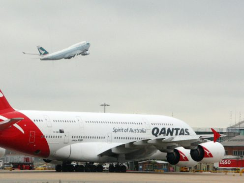 "Qantas Chief Executive Alan Joyce said he's been talking to his counterparts at other airlines around the world about the possibility of a ""vaccination passport"" (Steve Parsons/PA)"