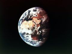 Earth in orbit, viewed from space (PA)