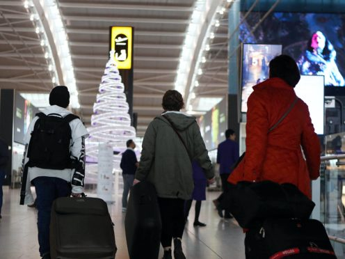 A Christmas travel tsar has been appointed (Steve Parsons/PA)