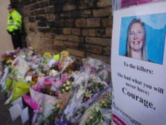 Flowers at the scene of the murder of Sharon Beshenivsky (Stefan Rousseau/PA)