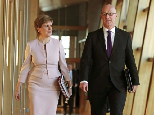 A letter to Deputy First Minister John Swinney said the Government's failure to hand over information after more than 20 months' warning was 'totally unacceptable' (Andrew Milligan/PA)
