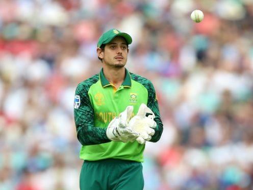 South Africa skipper Quinton de Kock is ready for an in-form Ben Stokes (Nigel French/PA)