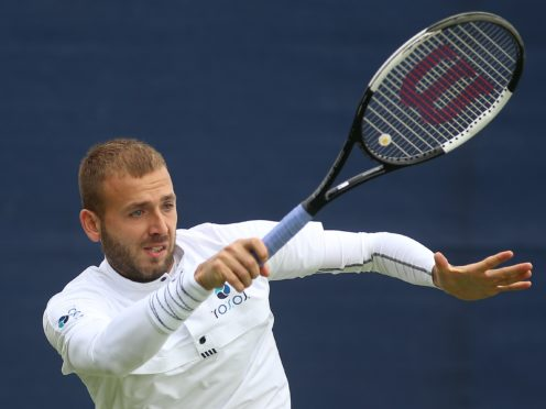 Dan Evans was beaten by Stan Wawrinka in Paris (Nigel French/PA)