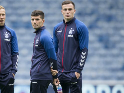 Rangers' George Edmundson (right) and Jordan Jones have been issued with seven-match bans (Jeff Holmes/PA)