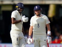 Jonny Bairstow (right) and Jofra Archer (left) in England Test whites (John Walton/PA)