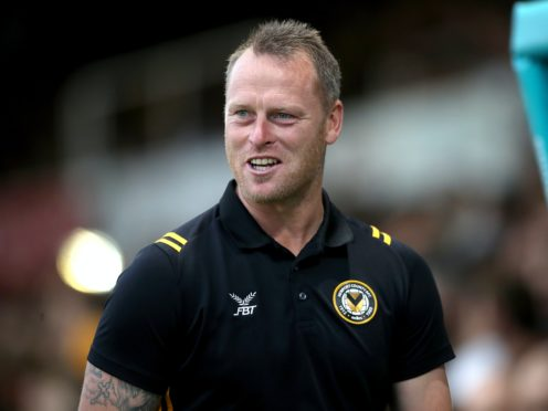 Newport manager Michael Flynn has seen his side move three points clear at the top of League Two (Nick Potts/PA)