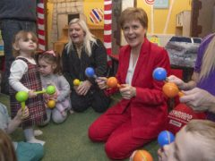 Nicola Sturgeon said more than 28,000 applications for the Scottish child payment have been received (Jane Barlow/PA)
