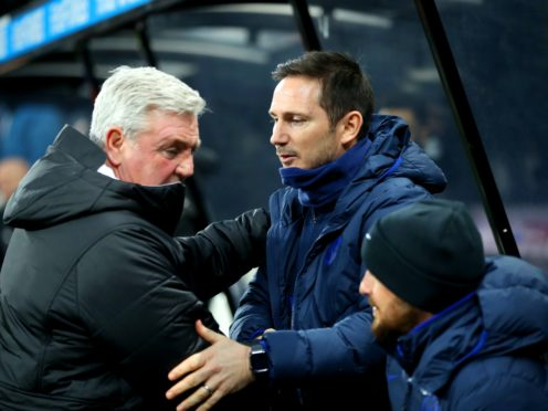 Chelsea manager Frank Lampard (right) and Newcastle boss manager Steve Bruce are set for an early start at St James' Park (Owen Humphreys/PA)