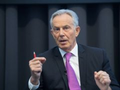 Tony Blair said he was anxious about the impact of Covid-19 in the coming months (Stefan Rousseau/PA)
