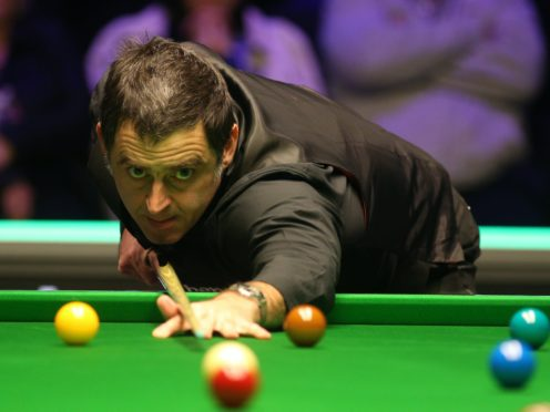 Ronnie O'Sullivan did not hang around in his first-round match at the Marshall Arena (Nigel French/PA)