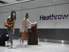 Heathrow criticised the 'lack of Government action' after it recorded a 'catastrophic' 82% fall in passenger numbers last month (Kirsty O'Connor/PA)
