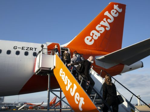 EasyJet said it expects capacity to be no more than 20% for the rest of the year (Matt Alexander/PA)