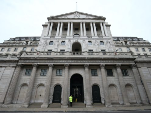 The Bank of England is expected to launch another £100bn of economy-boosting action amid fears of a double-dip recession (Jonathan Brady/PA)