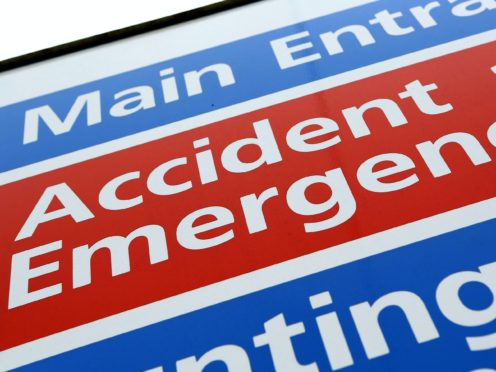 A&E statistics show that just 86% of patients were seen within four hours (Chris Radburn/PA)