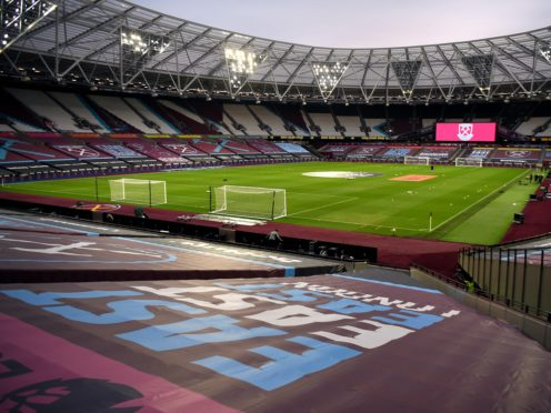 The London Stadium will be the first venue to welcome fans for a Premier League since March when West Ham take on Manchester United on December 5 (Andy Rain/PA)