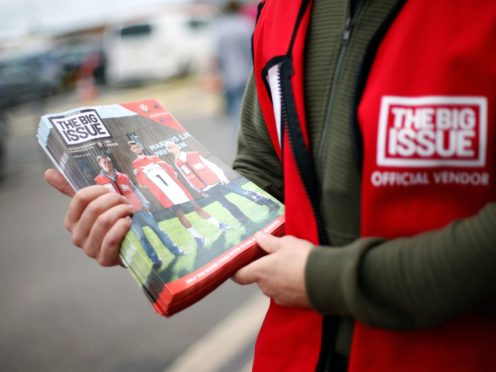 Virgin Media to donate £25,000 to Big Issue vendors (Paul Harding/PA)