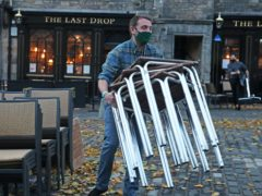 Restrictions included closing pubs and restaurants in much of central Scotland (Andrew Milligan/PA)